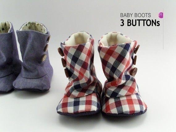 no 93 Baby 3 Button Boots PDF Pattern por sewingwithme1 en Etsy