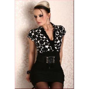 Seksi Kemerli Siyah Mini Elbise