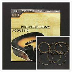 60CL (.011-.050) Phosphor Bronze Wound Steel Acoustic Guitar Strings