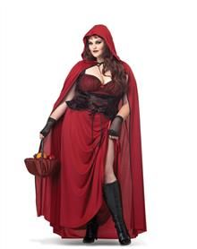 Dark Red Riding Hood Women's Plus Size Costume. I think this would look awesome as a Steampunk Cape.  $69.99  #steampunk #plussize