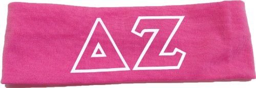 Delta Zeta Sorority Greek Letters Headband Pink >>> You can find more details by visiting the image link.(This is an Amazon affiliate link and I receive a commission for the sales)