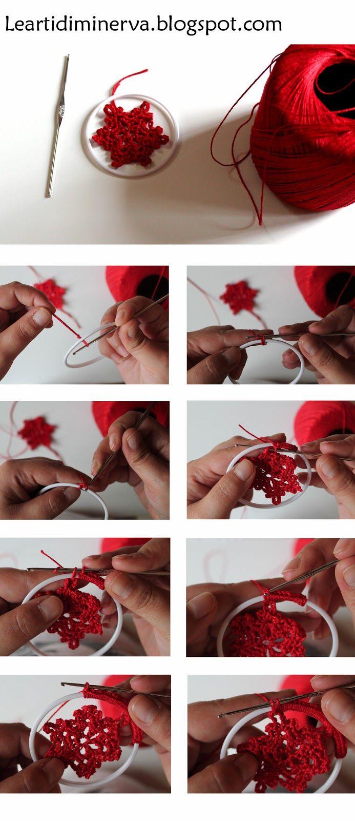 MaryJ Handmade: Fiocchi di neve all'uncinetto! Crochet Snowflake Pattern
