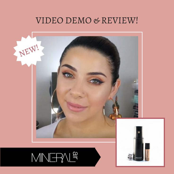 There's a BRAND NEW video up on YouTube featuring Mineral Air. Makeup artist Tina Kosnik offers a magnificently thorough demo/review not only of the #MineralAir airbrush but also our Only Minerals mineral makeup product line… and GUESS WHAT!?!? She's doing a special limited time giveaway! Head to https://youtu.be/n8aaODD8Op8 for complete details. And hurry- the giveaway ends 7/5! #airbrushmakeup #lovemyMineralAir