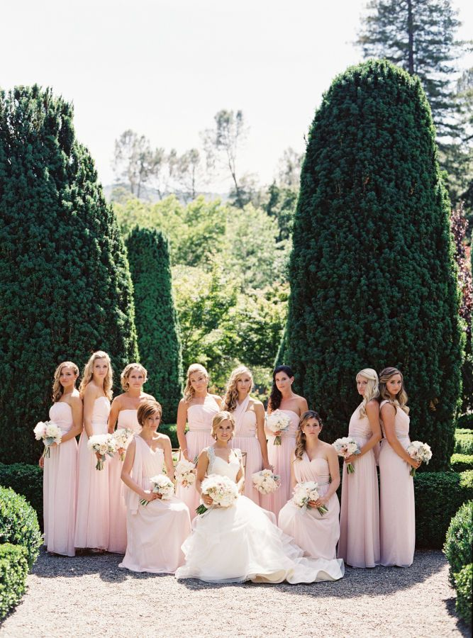 Group photos with your bridesmaids should be in your wedding shot list |  Wedding Shot List: Bride Moments to Remember | http://www.bridestory.com/blog/wedding-shot-list-bride-moments-to-remember