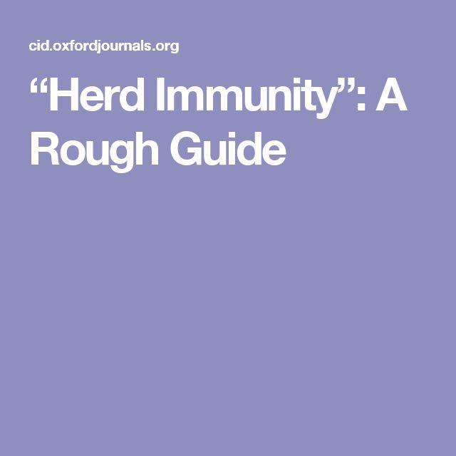 """""""Herd Immunity"""": A Rough Guide"""