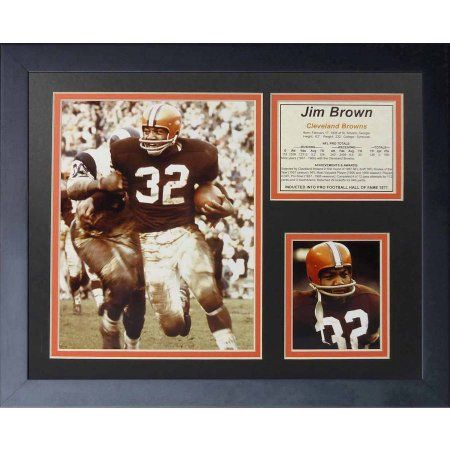 Legends Never Die Jim Brown Running Framed Photo Collage, 11 inch x 14 inch