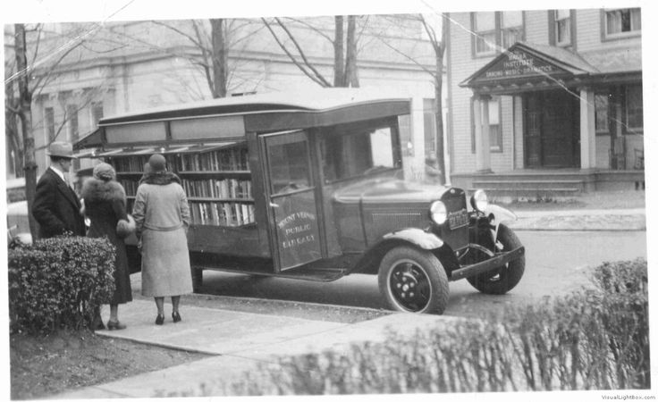 vintagelibraries:    Mount Vernon Public Library, Bookmobile, year unknown.