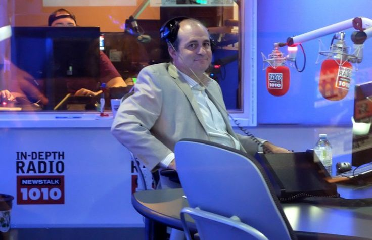 Andrew Feldstein prior to the NEWSTALK 1010 The Nightside Show with Barb DiGlulio.
