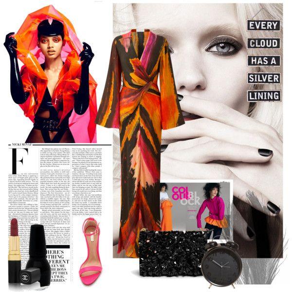 Orange&pink love by fromnorah on Polyvore featuring Amanda Wakeley, Schutz, Marni, Chanel, Silver Lining, Calvin Klein and Nicki Minaj