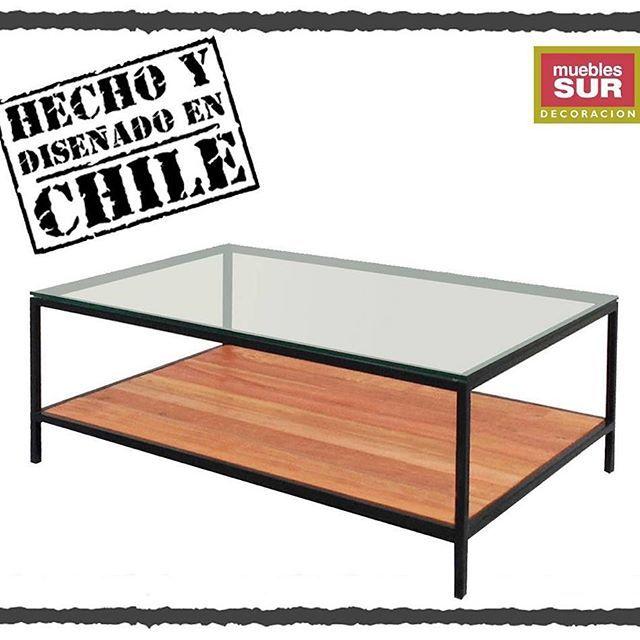 Nuevo #Diseño #HechoEnChile! Ven a conocer nuestra mesa de centro Poma, estructura de #metal y #madera #recuperada, cubierta de #vidrio transparente. #Mesadecentro  #diseñoChileno. #Ambientes para la #vida, #MueblesSur