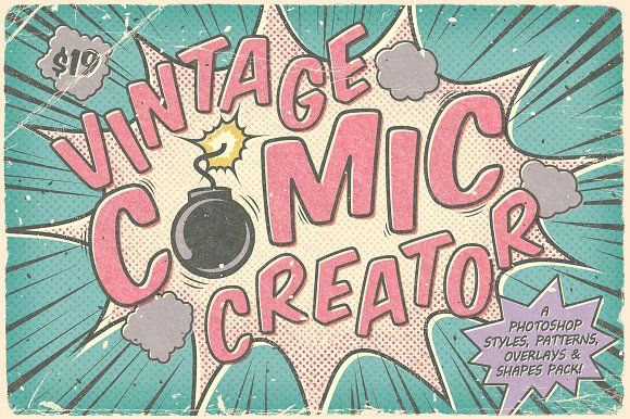 Vintage Comic Creator by The Artifex Forge on @creativemarket