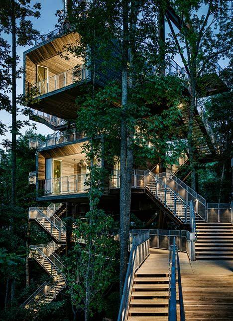 stunning & sustainable 38-metre-high treehouse (via Dezeen) - my ideal home...