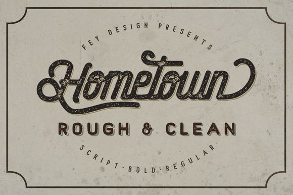 Hometown Clean And Rough Family by feydesign on @creativemarket