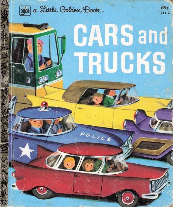 vintage childrens little golden book cars and trucks richard scarry