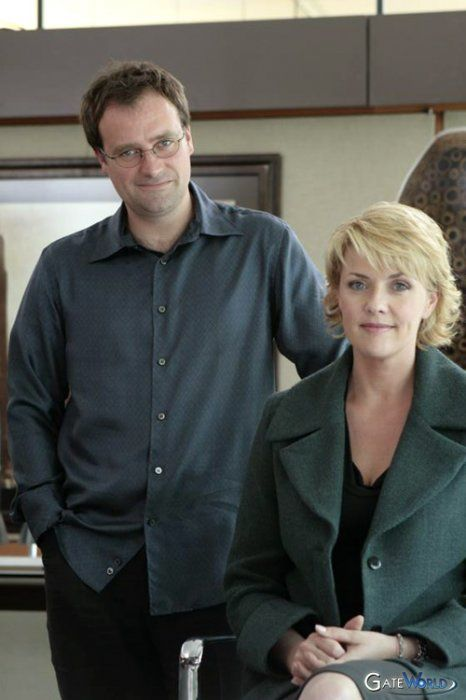 David Hewlett and Amanda Tapping