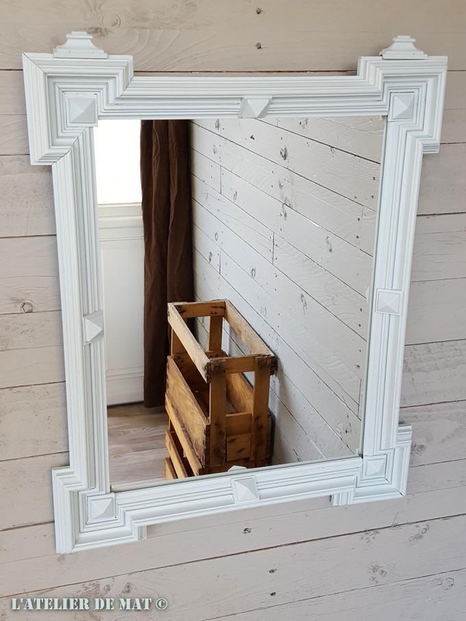 Ancien miroir relooké - Makeover of an old mirror