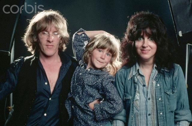 China Kantner with her parents Paul Kantner and Grace Slick, circa 1977.