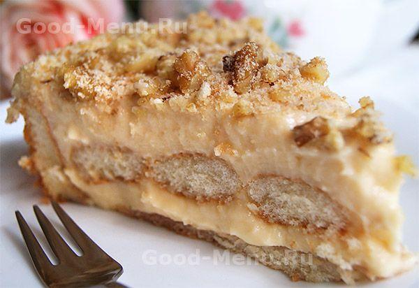 Торт из печенья с заварным кремом - рецепт