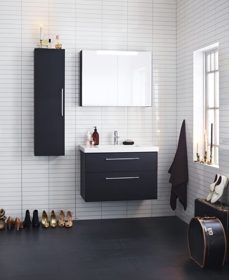 Aspen Badrum / Viskan / Vit / Svart / White / Black / Scandinavian / Design / Bathroom Furniture