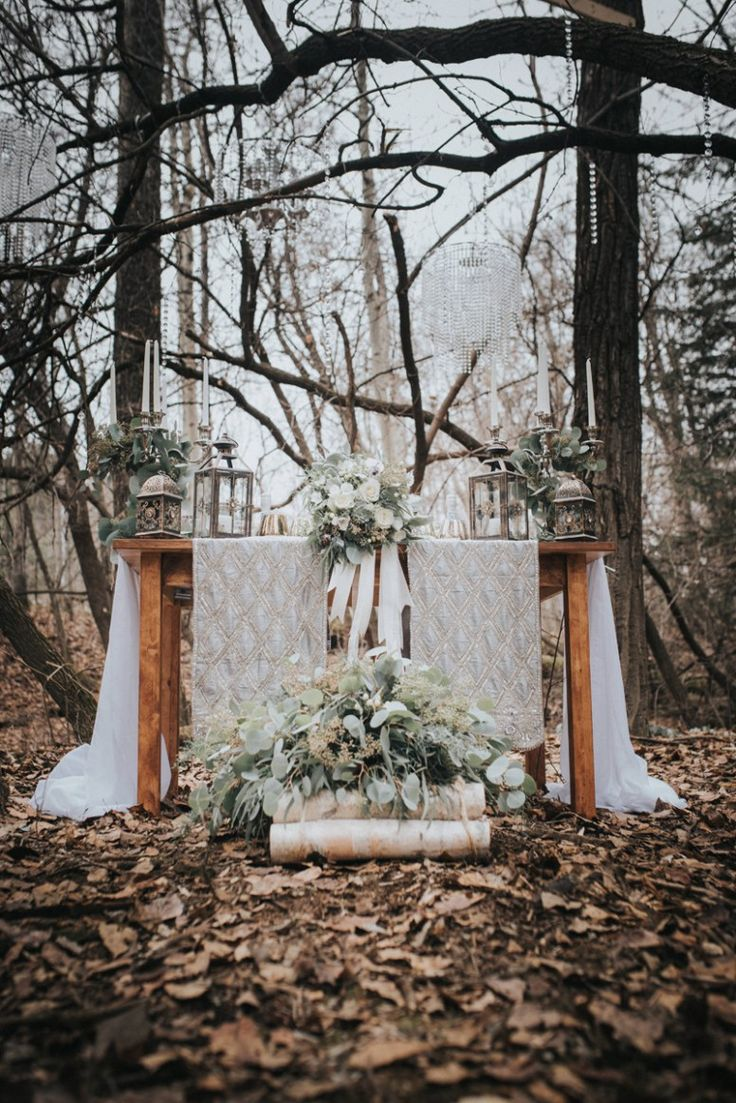We are so happy to be starting 2017 out with this amazing feature! This beautiful frosted forest shoot was styled by Something Borrowed Wedding & Event Design and captured by Candy Koated Photography & Design Studio. Something Borrowed Wedding & Event Design did such an incredible job styling this shoot, it is spot on for so many of the 2017 trends.