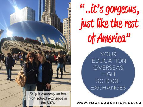 """The Chicago bean. I never ever expected it to look like this. It's bigger than you could imagine, it's gorgeous, just like the rest of America."" Another great quote from Sally our student on her high school exchange in the USA. Interested in going to the USA for a high school exchange? Read more on our website."