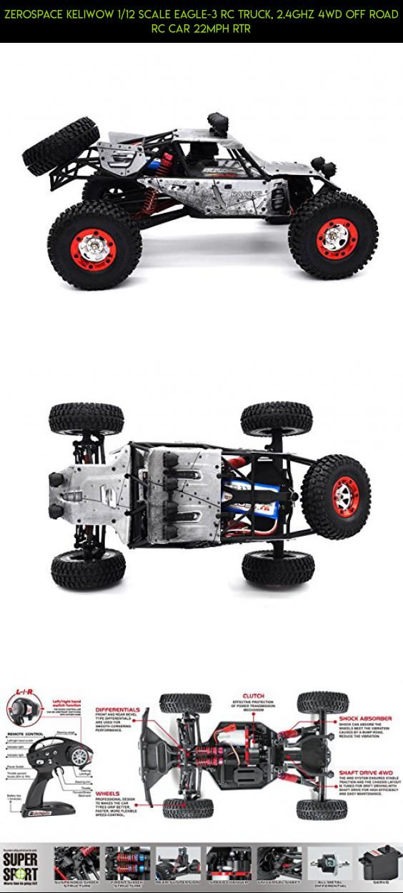 Zerospace Keliwow 1/12 Scale Eagle-3 RC Truck, 2.4Ghz 4WD Off Road RC Car 22MPH RTR #kit #gadgets #rock #wltoys #products #fpv #parts #drone #tech #plans #crawler #racing #shopping #camera #technology