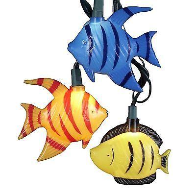 KURT-ADLER-MULTI-COLOR-TROPICAL-FISH-10-LIGHT-SET-COASTAL-NOVELTY-XMAS-DECOR