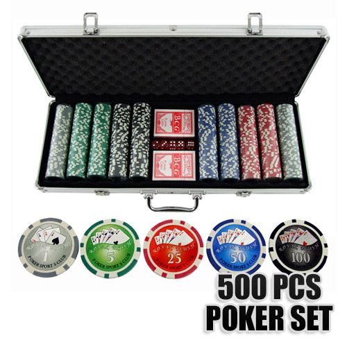 Poker Chip and Card Set with 500 Pieces and Case | Buy Poker Sets
