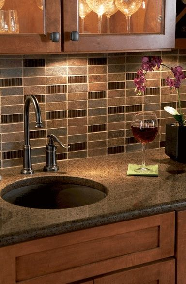 Weekend Warrior: Kitchen Backsplash Ideas. I'm not a weekend warrior! I would have someone to come do this for me. LOL!
