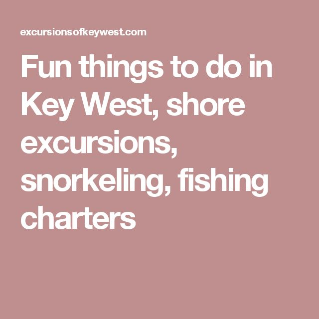 Fun things to do in key west shore excursions snorkeling for Key west shore fishing