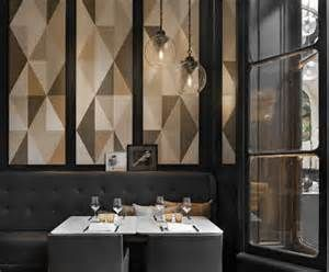 charles zana designs truly had a task on their hands when they were asked to provide a fresh new look for the famous italian restaurant caf artcurial on - Beaded Inset Restaurant Interior