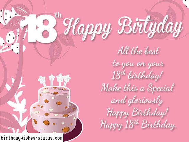 Happy 18th Birthday Wishes Happy 18th Birthday Quotes Happy 18th Birthday Son 18th Birthday Cards