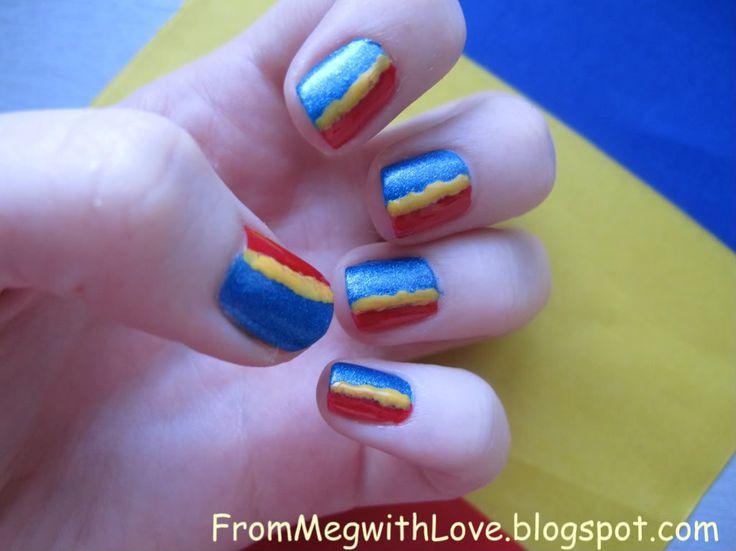 """From Meg with Love Blog: Manichiura """"Trei culori cunosc pe lume"""" :)"""