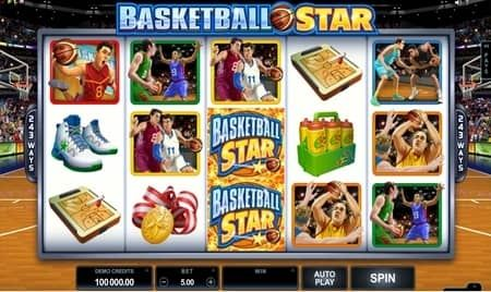 Review of Basketball Star slot which has a 5 reel and gives you 243 ways to win.This is a Microgaming slot that can be tested on a demo featured here.