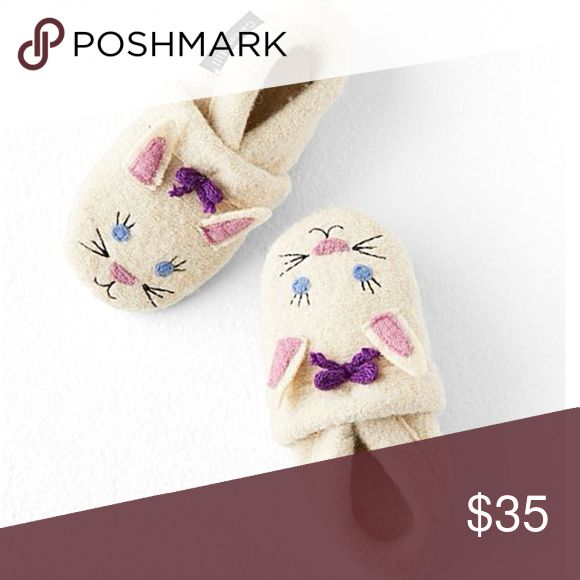 Baby Boiled Wool Slippers Sweet feet! This too-cute baby version of our popular kids' Boiled Wool Slipper Boots keeps the tiniest feet warm and cozy. Enticing for even the most footwear-resistant babies and toddlers, thanks to the kid-friendly designs and comfortable soft soles. Hint: give these at a baby shower, and you'll have the whole room swooning. Elastic at opening for ease and a good fit.   Made by hand Wool Felted wool sole with latex-dot tread Imported from Europe Garnet Hill Shoes…