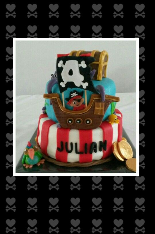 Piraten taart / Pirates cake made by Dazzling Pie