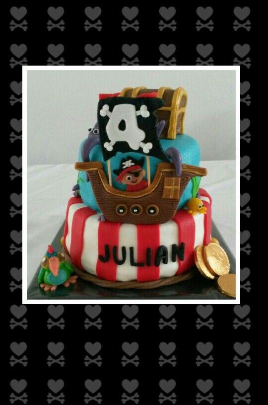 Piraten taart / Pirates cake made by Dazzling Pie