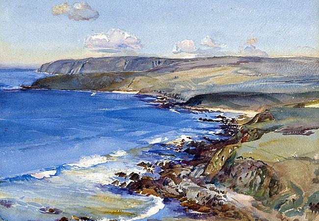 Hans Heysen - Watercolor - Watercolour