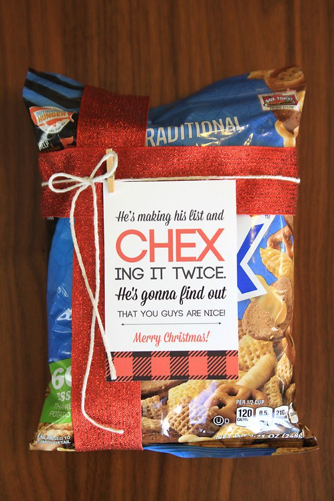 Www Christmas Ideas Decorations For Living Room: Easy Neighbor Gift Idea: CHEX Mix + Cute Tag