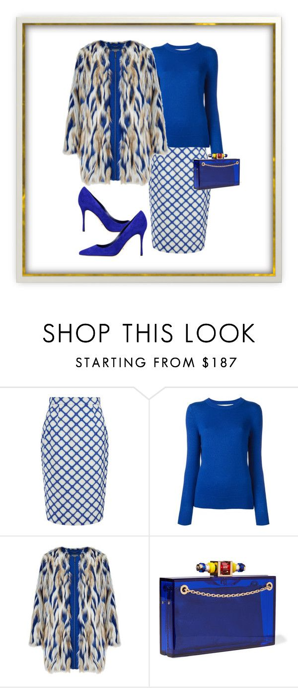 """I've got the blues."" by sunnyjuke ❤ liked on Polyvore featuring Jonathan Saunders, MICHAEL Michael Kors and Charlotte Olympia"