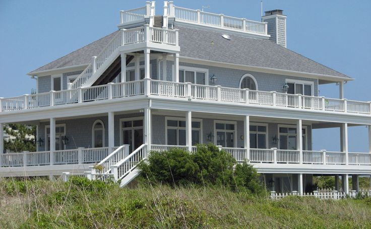 Pin by beverly gilson on homes i can dream big pinterest for Beach house with wrap around porch