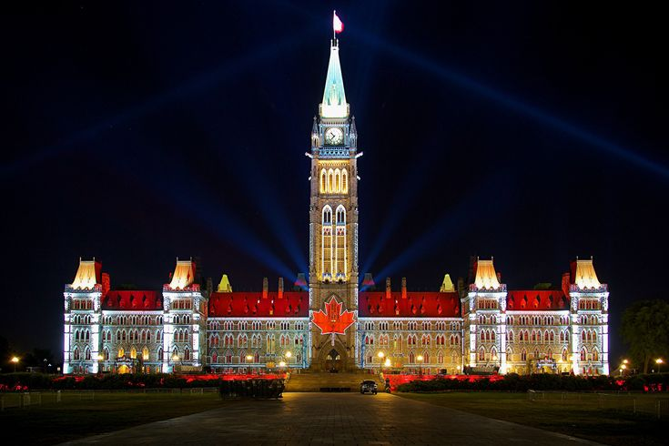 Wallpapers Canada Houses Ottawa Parliament Hill Design Night ...