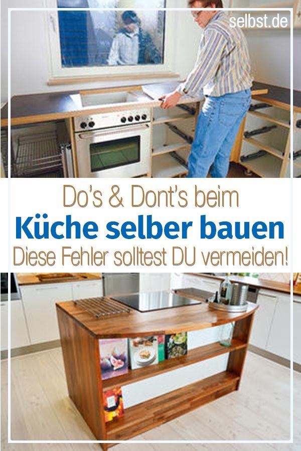 Einbauküche: Küche bauen in 2019 | Küche renovieren | Küche selber ...
