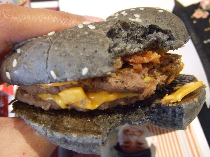Halloween Burger with black sauce