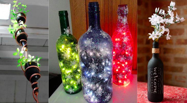 17 meilleures images propos de bricolage sur pinterest for Decoration de bouteille en verre