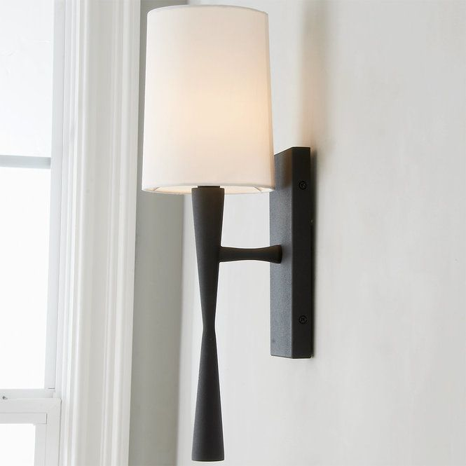 Slim Hourglass Bar Sconce Sconces Black Sconces Modern Sconces