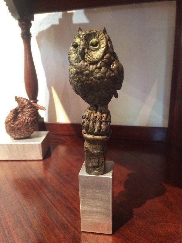 "Stephen Rautenbach on Twitter: ""A new Little Owl sculpture in bronze in the studio https://t.co/GiHGCvlz9U"""