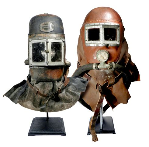 Pair of 1800s Smoke Rescue Masks