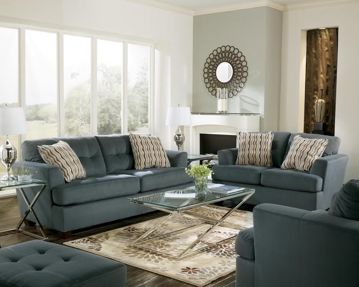 Dallas   Steel Contemporary Tufted Sofa By Signature Design By Ashley    Gill Brothers Furniture