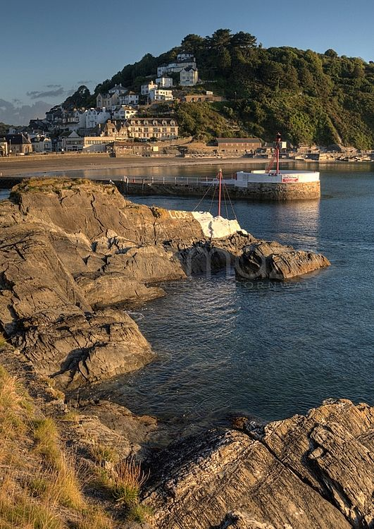 Banjo Pier and Town Beach, Looe, Cornwall, UK